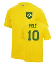 Pelé Brazil World Cup Football Fancy Dress Player T Shirt